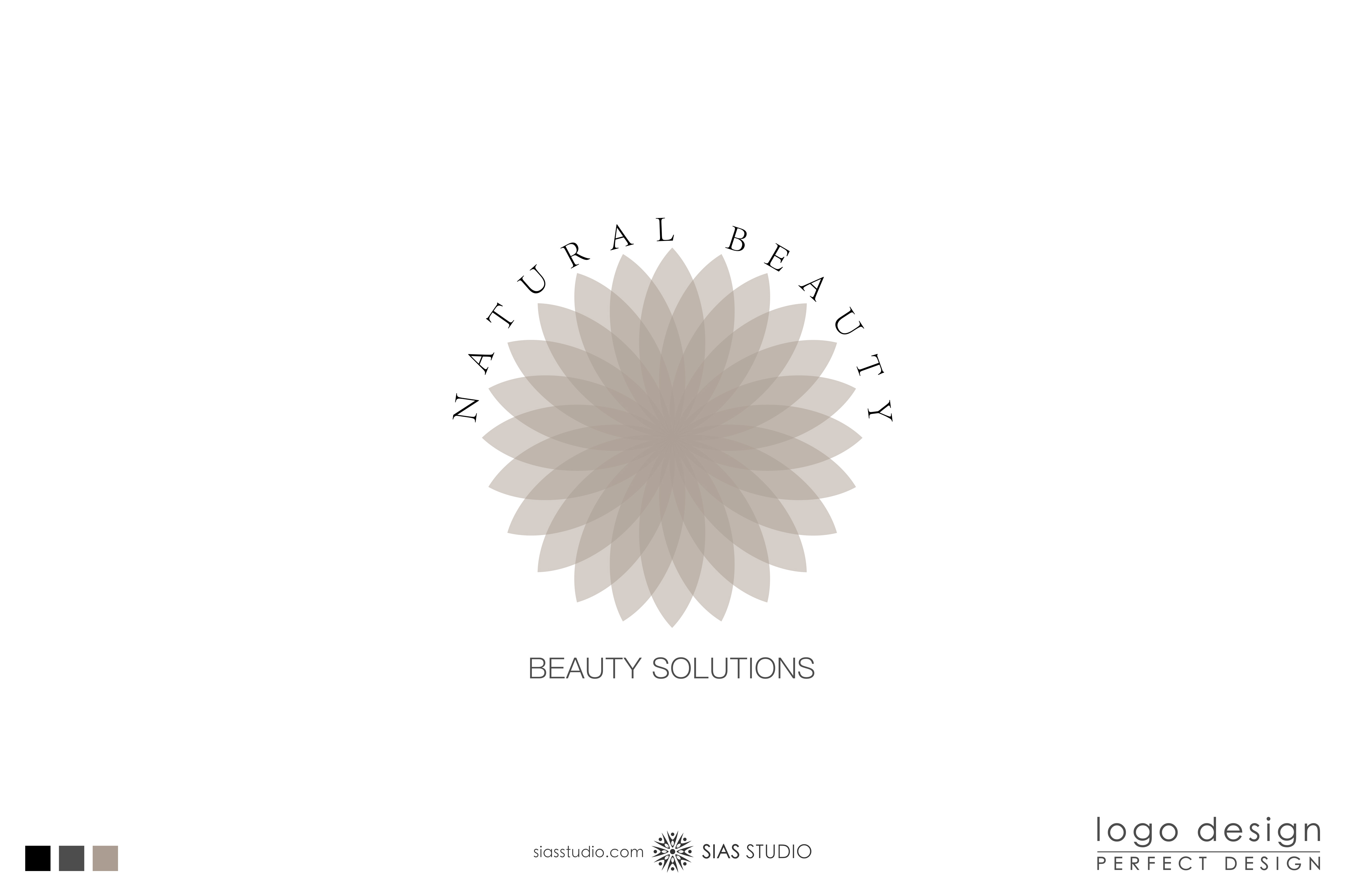 Logo Design Natural Beauty With Lotus Flower Sias Studio Creations