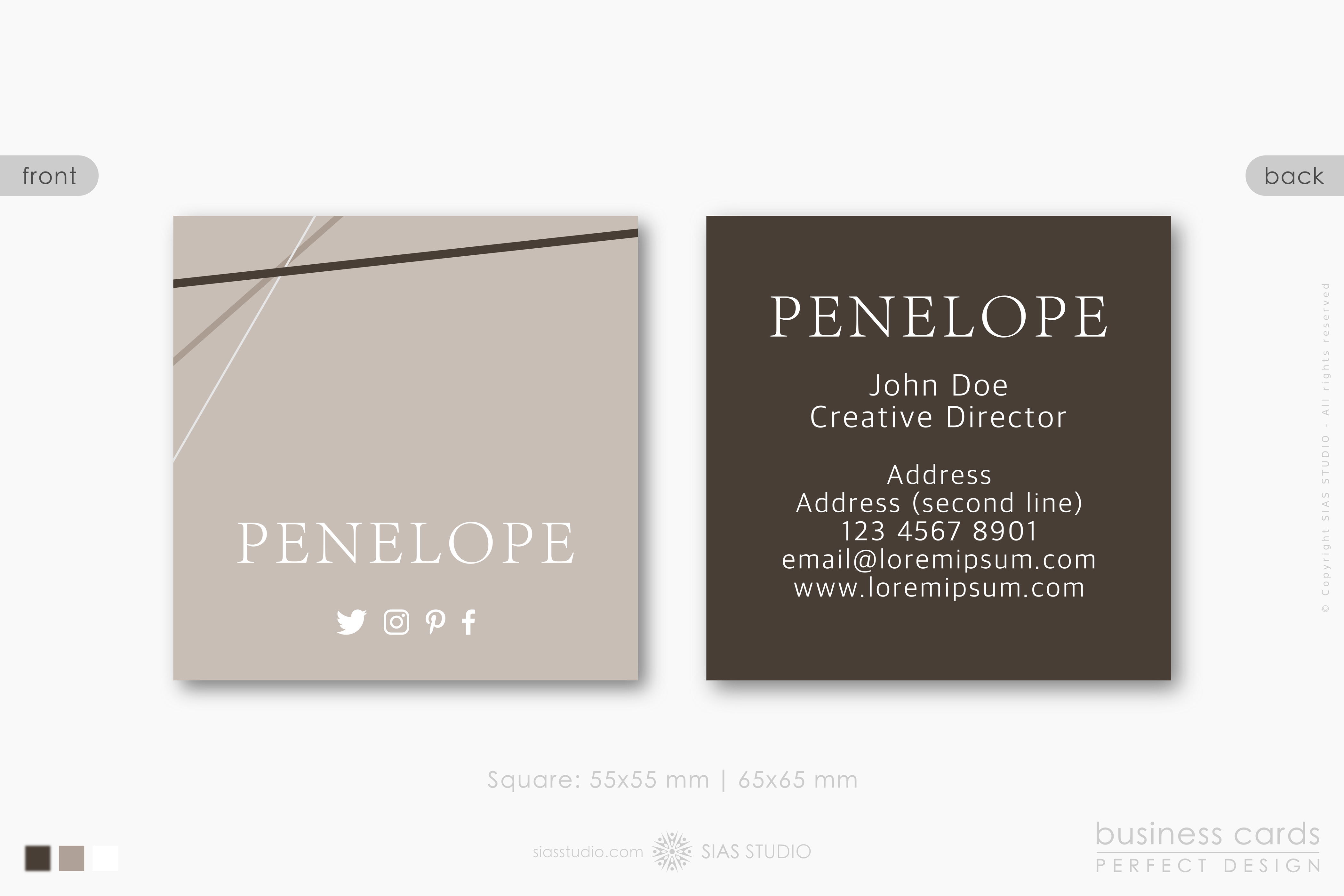 Business card template penelope design with elegant lines sias business card template cheaphphosting Image collections