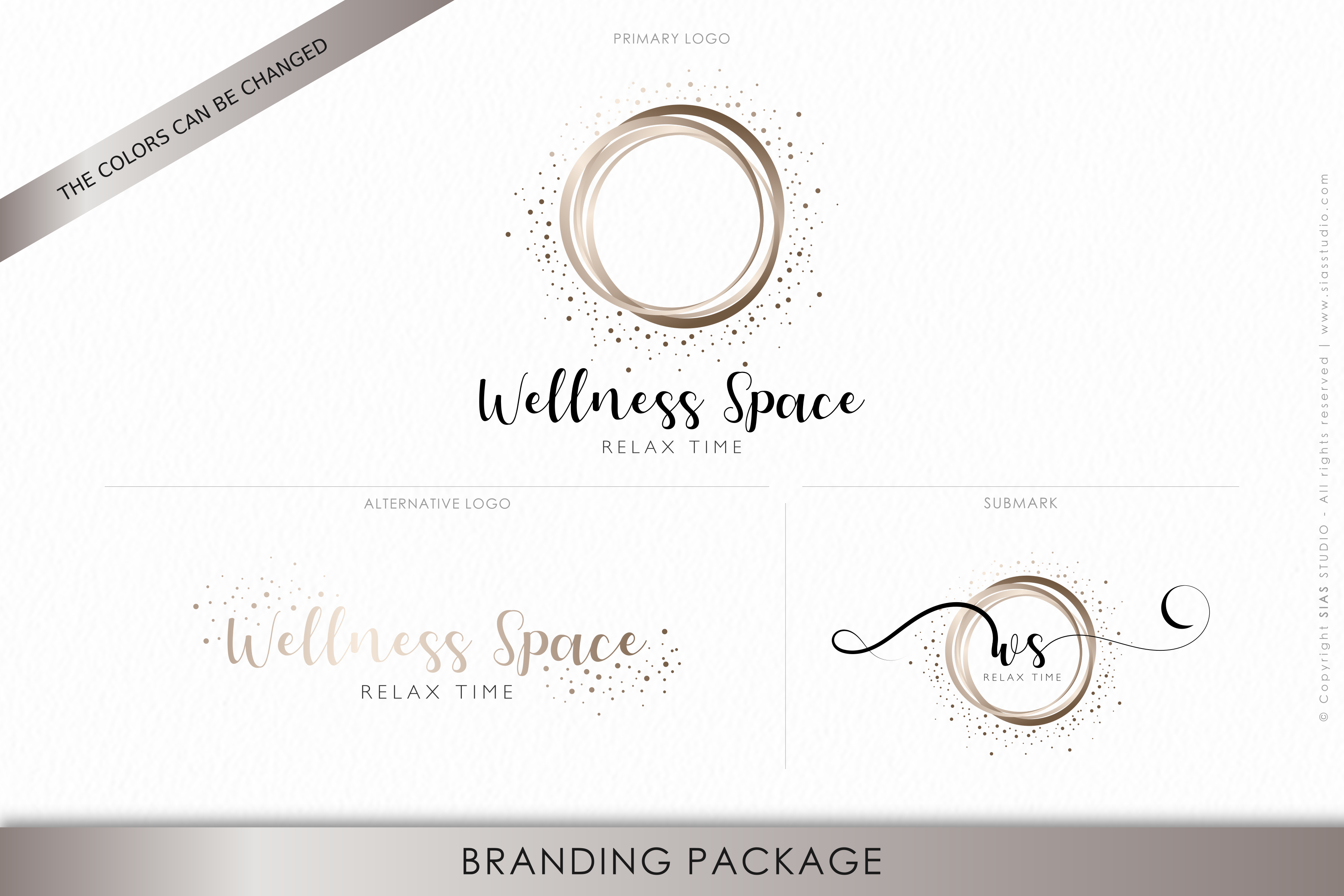 Premade Branding Package Wellness Space Elegant Design With Circles