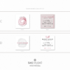 Premade Branding package Rose Gold, Design with handmade rose – Square business cards