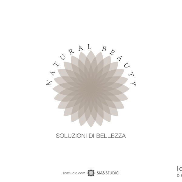 "Logo design ""Natural Beauty"" con fiore di loto"