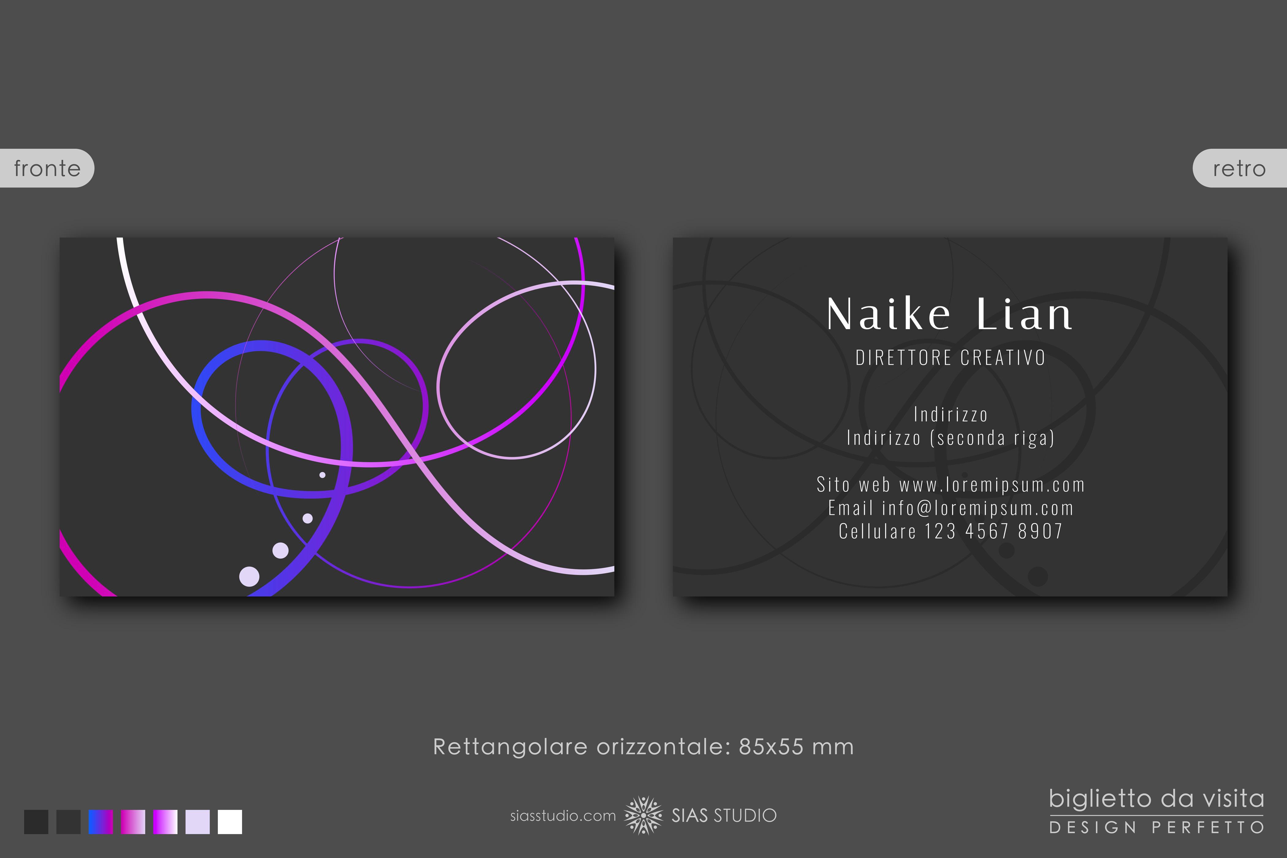 """Modello per Biglietto da visita """"Naike Lian"""" Design creativo"""