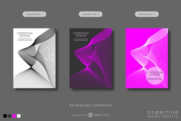 """Modello per Copertina """"Movimento astratto"""" Design effetto fumo"""
