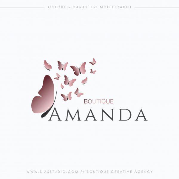 Amanda - Logo design con farfalle