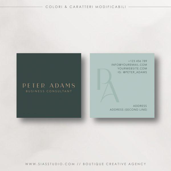 Peter Adams - Biglietto da visita