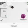 Design 11 – Applicazione logo alternativo Pamela Doe Design con acquarello viola