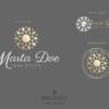 Design 2 – Tris di loghi Marta Doe Design con mandala oro