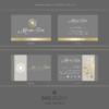 Design 6 – Biglietti da visita rettangolari Marta Doe Design con mandala oro