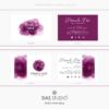 Design 6 – Biglietti da visita rettangolari Pamela Doe Design con acquarello viola
