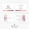 Design 6 – Biglietti da visita rettangolari Wellness Company Design con mandala