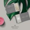 Design 8 – Modello del biglietto da visita Marta Doe Design con mandala oro