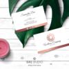 Design 8 – Modello del biglietto da visita Wellness Company Design con mandala