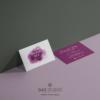 Design 8 – Modello per biglietto da visita Pamela Doe Design con acquarello viola
