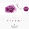 Design 9 – Facebook kit e icone social Pamela Doe Design con acquarello viola