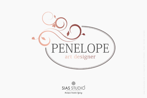 """Pacchetto di branding """"Penelope"""" Design fiorito con cornice"""
