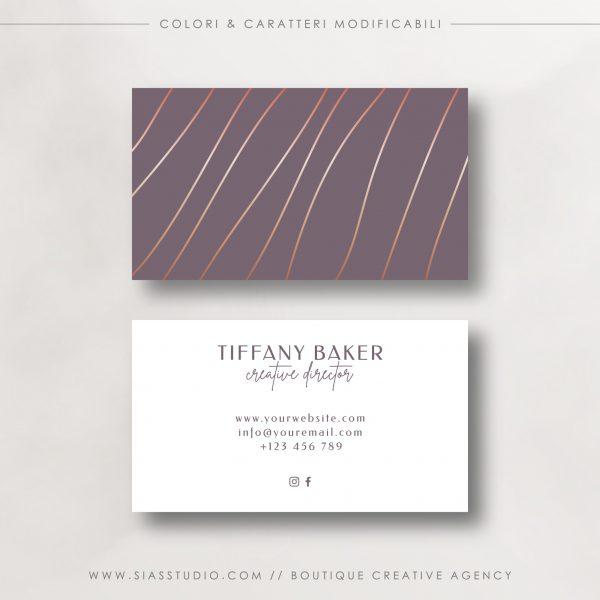 Tiffany Baker - Biglietto da visita