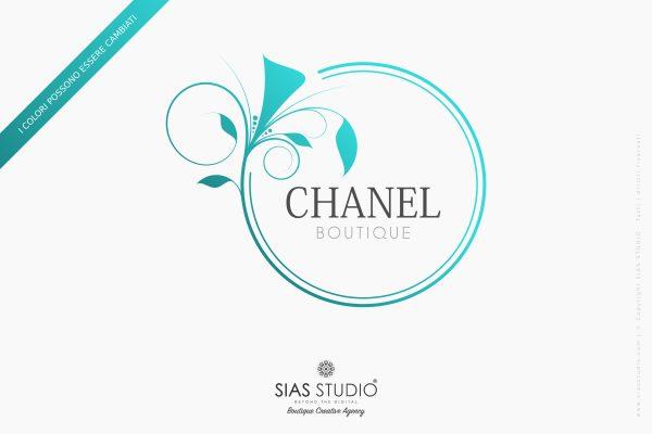 """Pacchetto di branding """"Chanel"""" Design fiorito con cornice"""