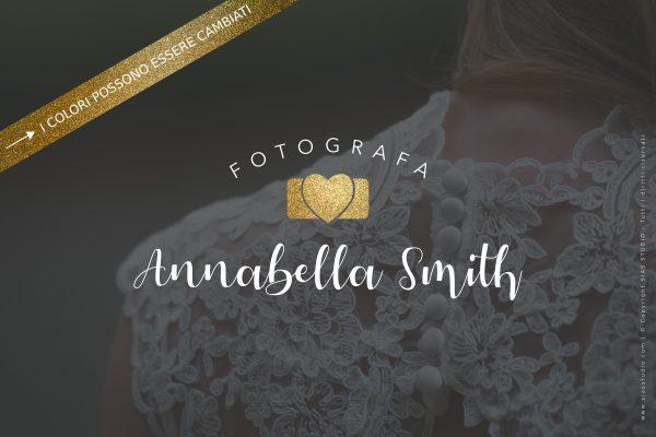 """Logo design per fotografi """"Annabella"""" con macchina fotografica a cuore"""