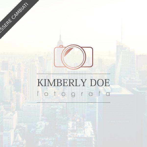 """Logo design per fotografi """"Kimberly"""" con macchina fotografica"""