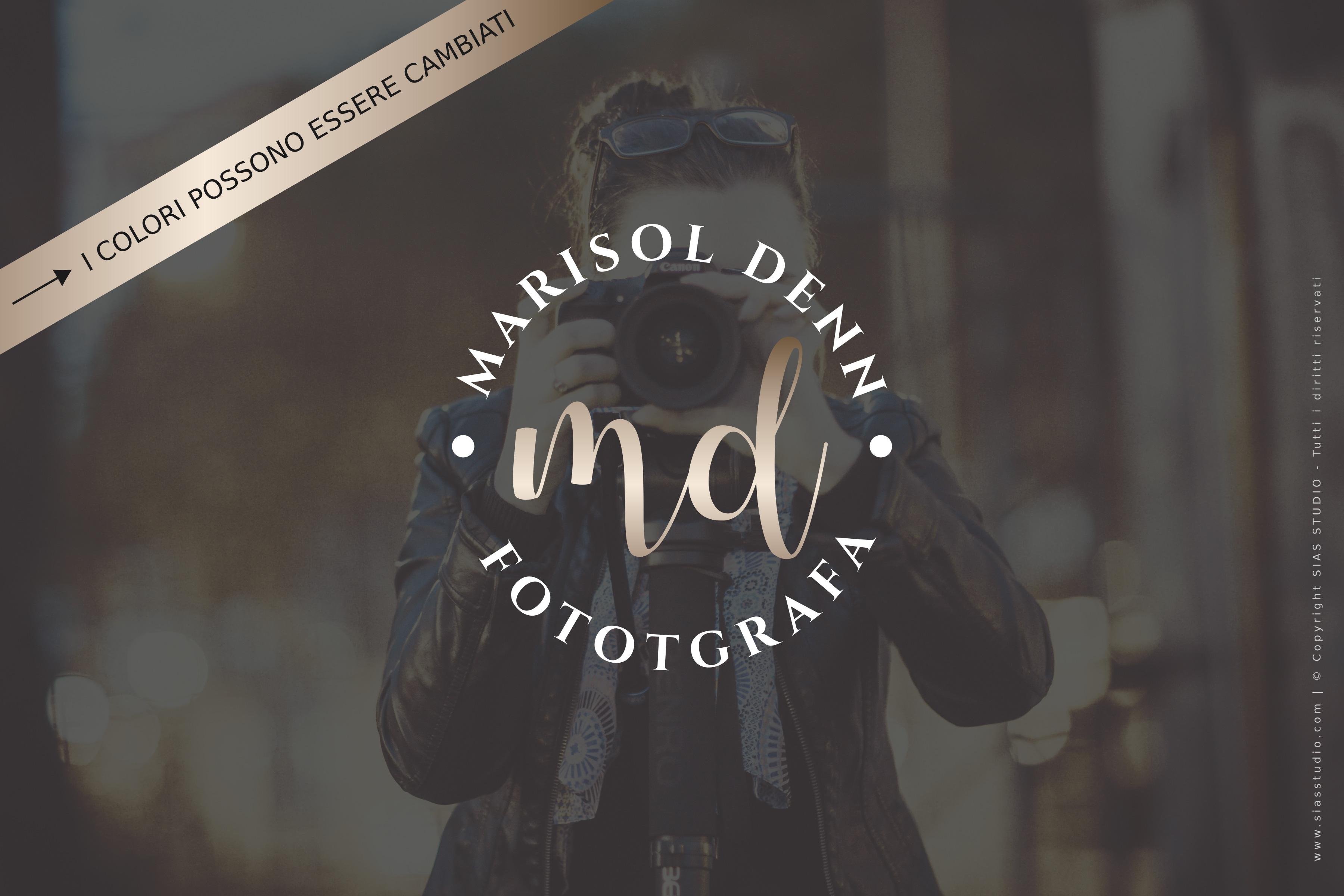 """Logo design per fotografi """"Marisol"""" distintivo con iniziali"""
