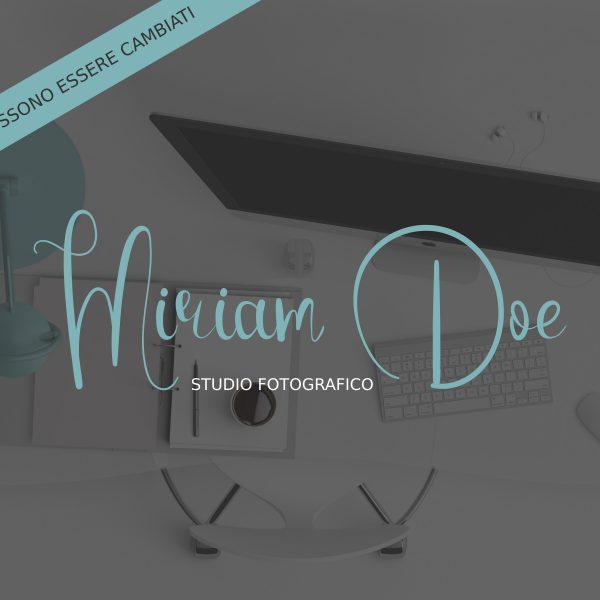 """Logo design per fotografi """"Miriam"""" con stile calligrafico"""