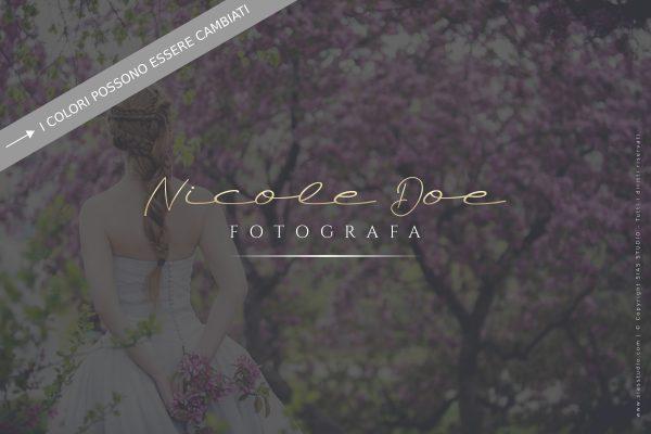 """Logo design per fotografi """"Nicole"""" con stile calligrafico"""