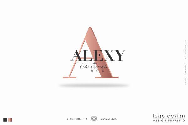 "Logo design ""Alexy"" Design elegante con iniziale"