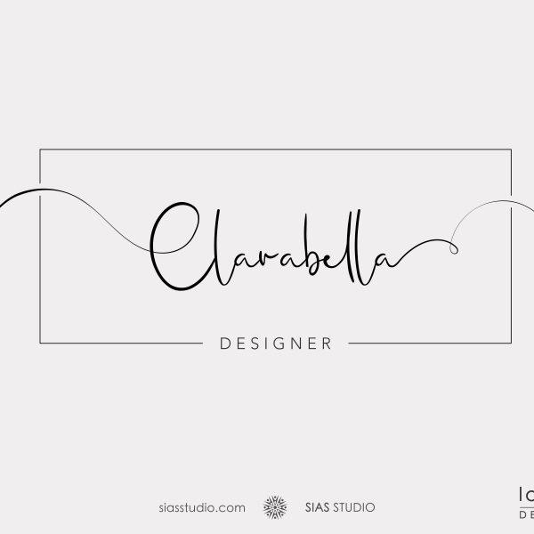 "Logo design ""Clarabella"" Design minimalista in stile calligrafico"