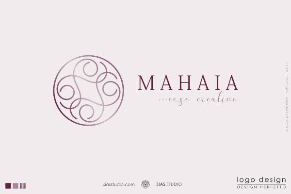"""Logo design """"Mahaia"""" Design con elegante elemento circolare"""