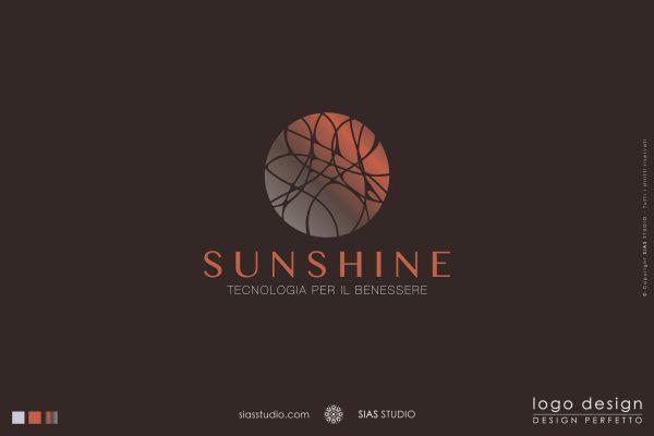 """Logo design precostruito """"Sunshine"""" Design caldo con cerchio decorato"""