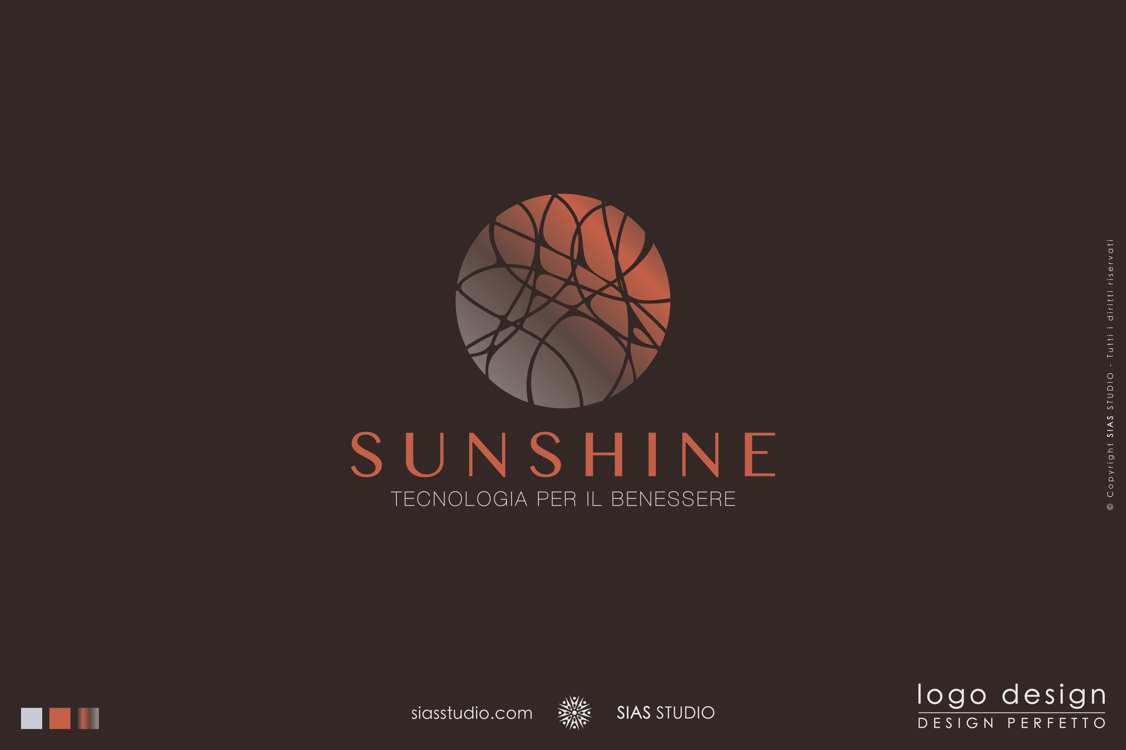 "Logo design precostruito ""Sunshine"" Design caldo con cerchio decorato"
