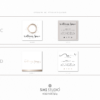 Pacchetto di branding – Wellness Space – Biglietti da visita quadrati