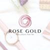 Pacchetto di branding precostruito Rose Gold, Design con rosa fatta a mano – Anteprima