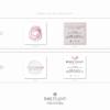 Pacchetto di branding precostruito Rose Gold, Design con rosa fatta a mano – Biglietti da visita quadrati