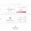 Pacchetto di branding precostruito Rose Gold, Design con rosa fatta a mano – Biglietti da visita rettangolari