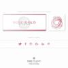 Pacchetto di branding precostruito Rose Gold, Design con rosa fatta a mano – Copertina e Avatar
