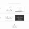 Pacchetto di branding precostruito Jewelry, Biglietti da visita rettangolari