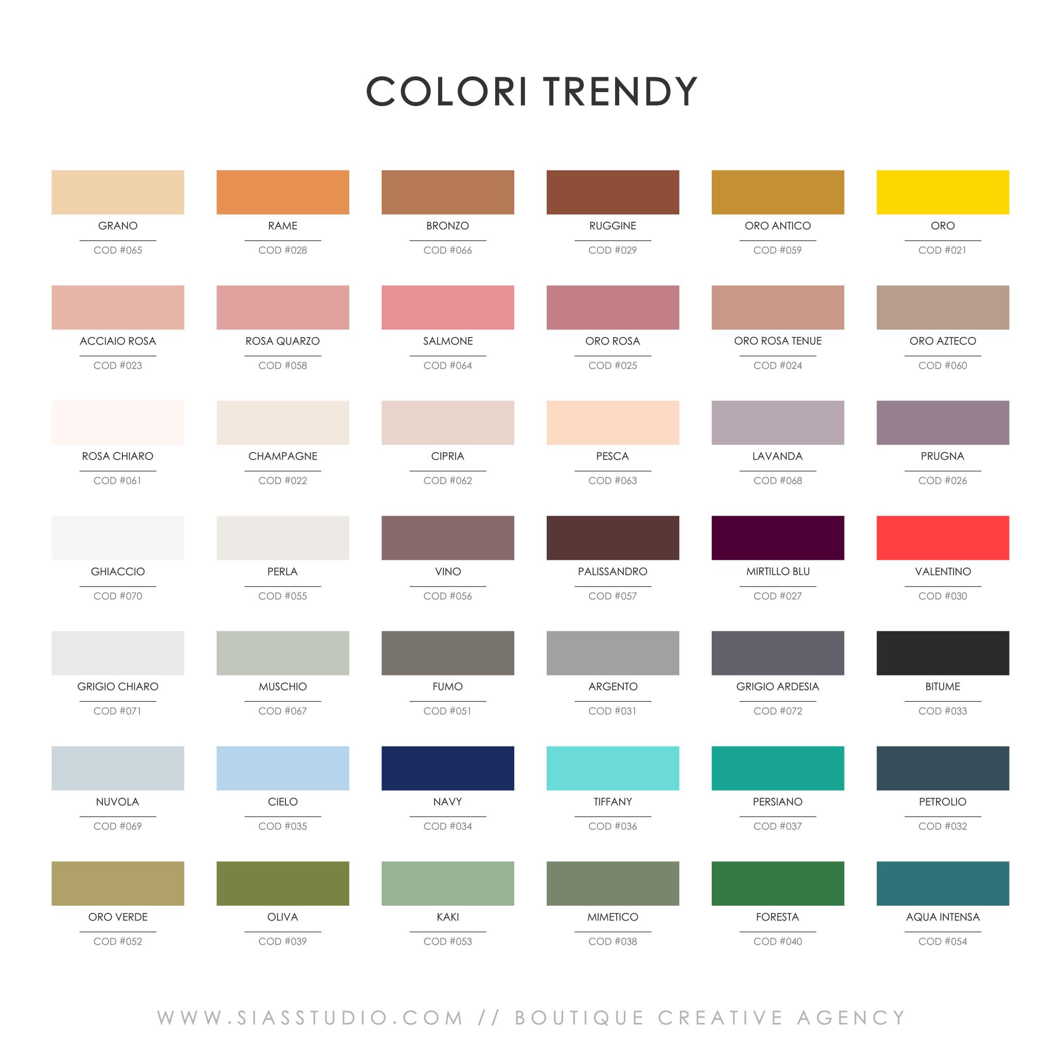 Sias Studio - Colori Trendy