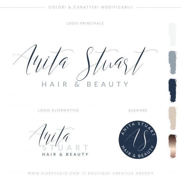 Sias Studio - Anita Stuart Pacchetto di branding