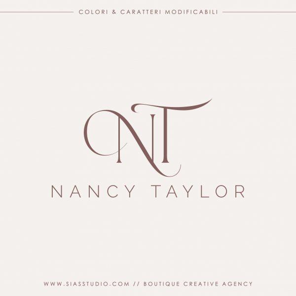 Nancy Taylor - Logo design precostruito con iniziali