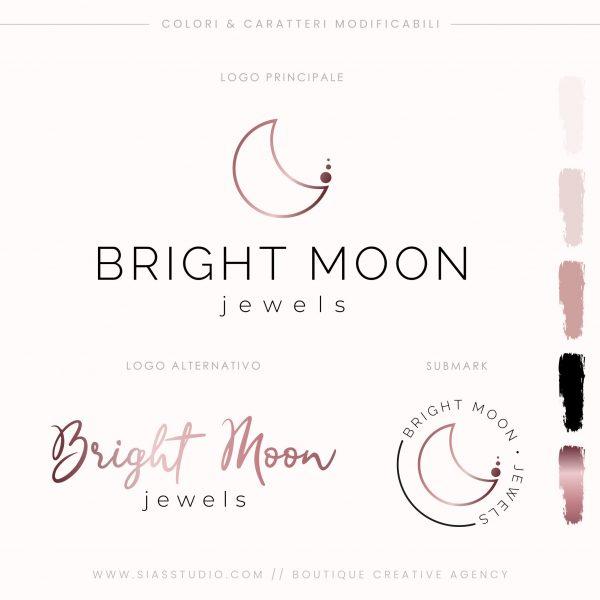 Sias Studio - Bright Moon Pacchetto di branding