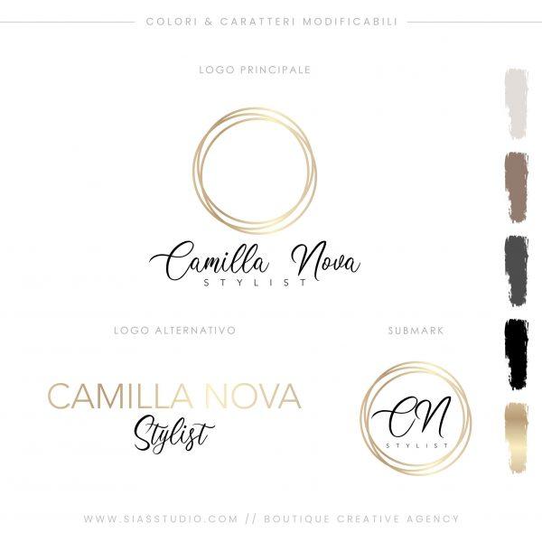 Sias Studio Camilla Nova Pacchetto di branding