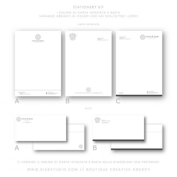 Sias Studio - Coco & Rose Pacchetto di branding Stationery kit