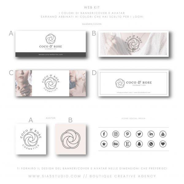 Sias Studio - Coco & Rose Pacchetto di branding Web kit