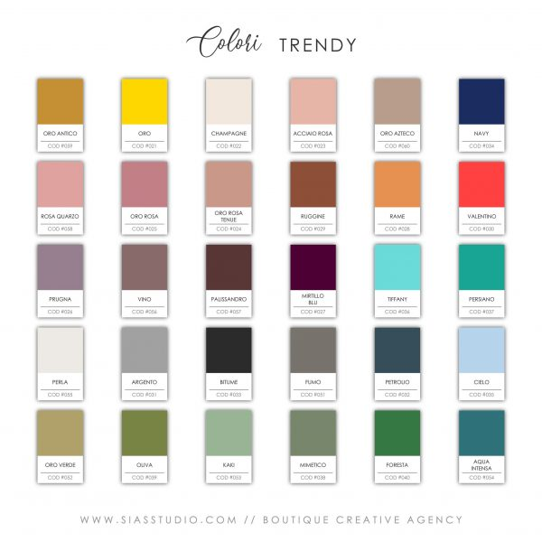 Sias Studio - Colori Trendy 2021