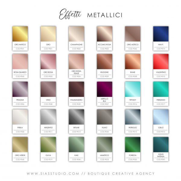 Sias Studio - Effetti Metallici 2021