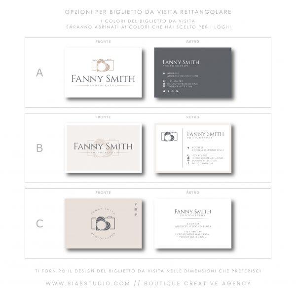 Sias Studio - Fanny Smith Pacchetto di branding Biglietto da visita rettangolare