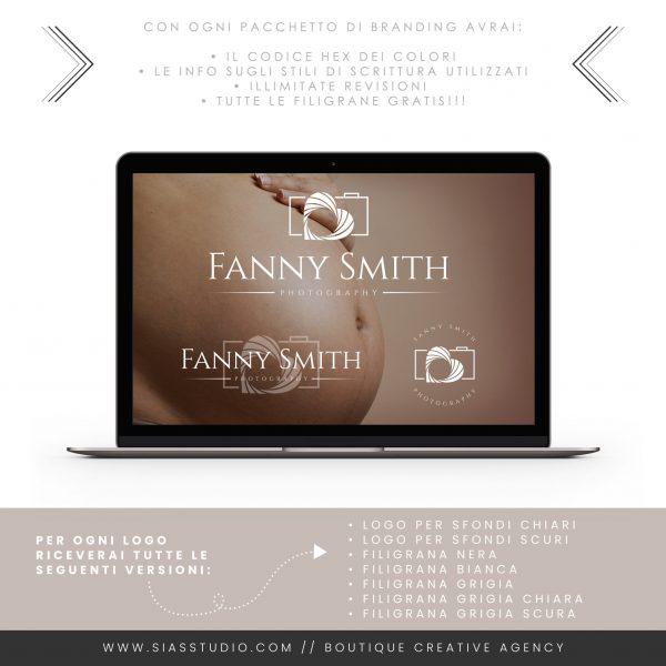 Sias Studio - Fanny Smith Pacchetto di branding Sfondo scuro