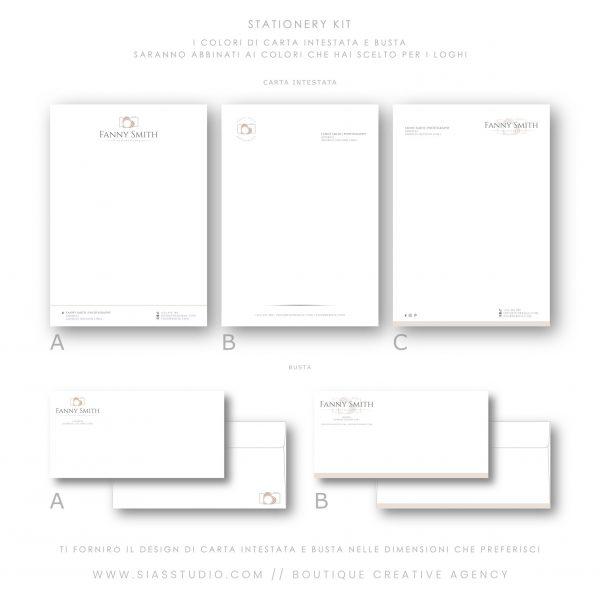 Sias Studio - Fanny Smith Pacchetto di branding Stationery kit