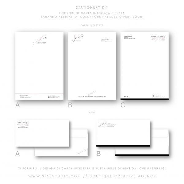 Sias Studio - Francesca Doe Pacchetto di branding Stationery kit